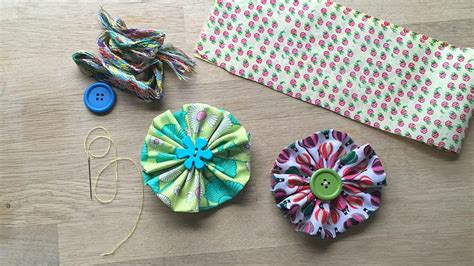 How To Make Upholstery Patterns by Easy Fabric Flower A Great Sewing Pattern For Beginners