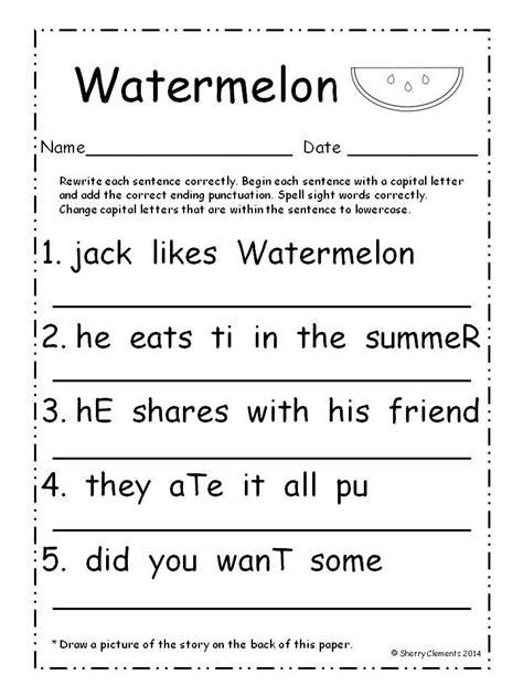 Letter Sentences 102 best images about punctuation capital letters on