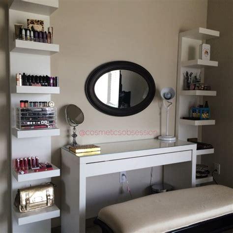 diy makeup desk ikea 7 ikea inspired diy makeup storage ideas