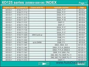 Komatsu Fuel Injection Pump Calibration Data Repair Manual Order  U0026 Download