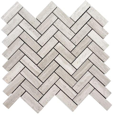 12 95 a square foot white oak marble 1x3 quot herringbone