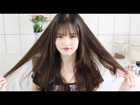 See through bangs tutorial / I CUT MY HAIR YouTube