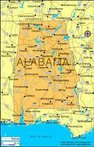 Alabama Map | Infoplease