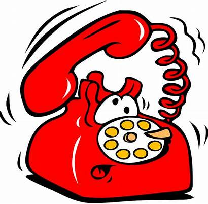 Phone Ringing Clip Telephone Clipart Rang Person