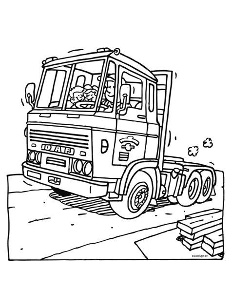 Kleurplaat Volvo Vrachtwagen by Kleurplaat Truck Kleurplaten Nl