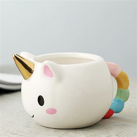 adorable 3d unicorn hand painted ceramic cup the coffee and the arts