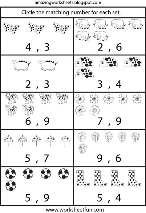 printable worksheets counting worksheets  ki