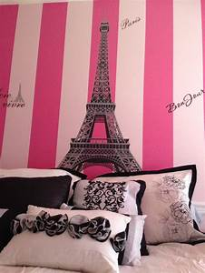 paris bedroom for my baby girl london paris theme With awesome pink eiffel tower wall decal