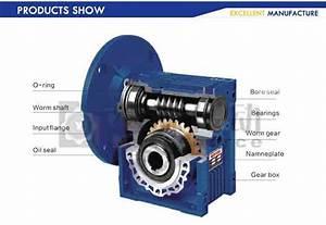 Aluminum Alloy Worm Gear Reducer   Worm Gearbox   Gear