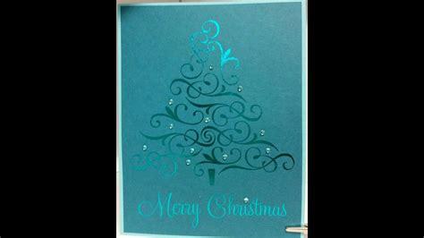 laser jet printed  foil embossed christmas cards youtube