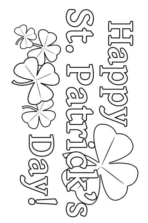 st patricks day coloring page education san patricio