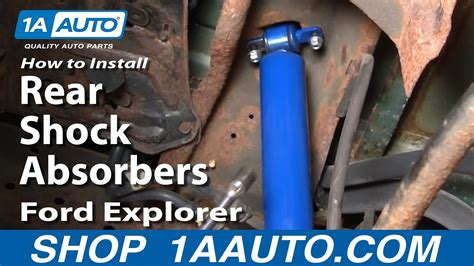 install replace rear shock absorbers ford explorer