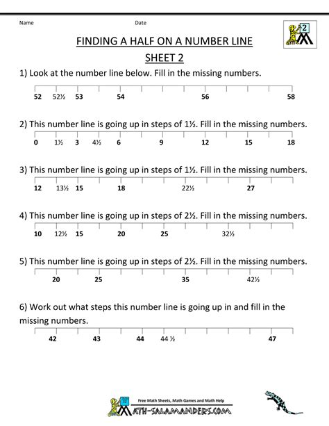 fractions number line worksheet number lines and mixed