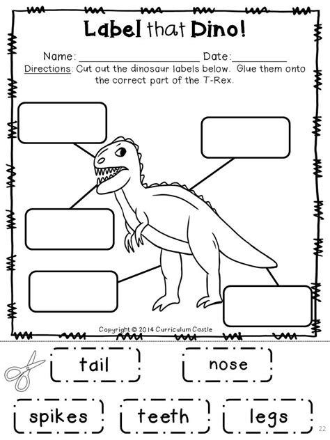 label that dino dinosaur labeling activity summer