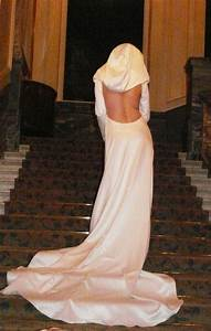 backless hooded silk wedding dress by vin and omi www With hooded wedding dress