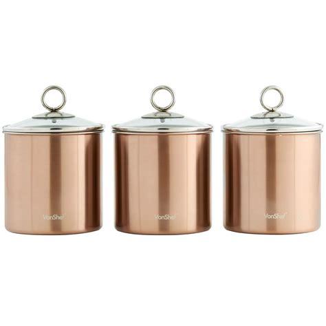 airtight kitchen canisters vonshef 3pc stainless steel tea coffee sugar kitchen