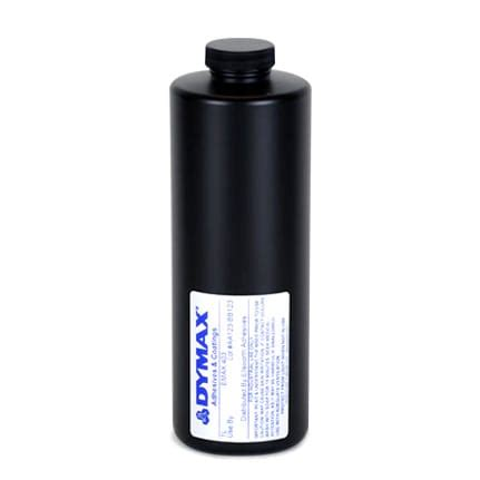 dymax e max 403 uv curing adhesive yellow 1 l bottle