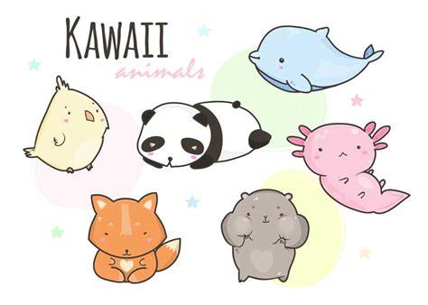 animales kawaii dibujos kawaii de animales  colorear