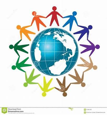 Globe Around Unity Colorful Earth Vector Community
