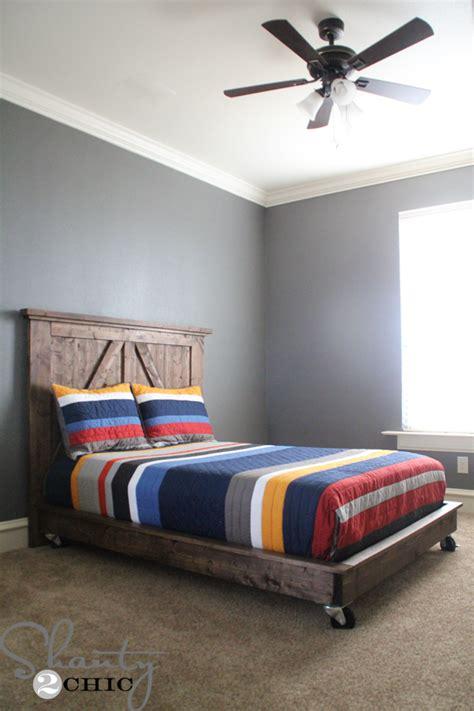 diy bed diy planked headboard shanty 2 chic