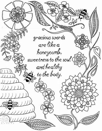 Coloring Pages Quote Adults Teens Words Gracious
