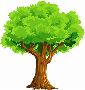 Clipart - Colorful Natural Tree