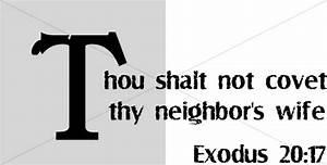 Thou Shalt Not Covet Thy Neighbors Wife | Scripture Word Art