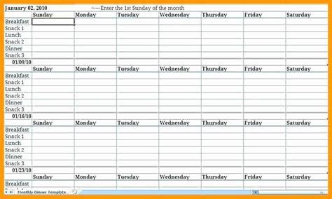 weekly meal planner template excel   weekly