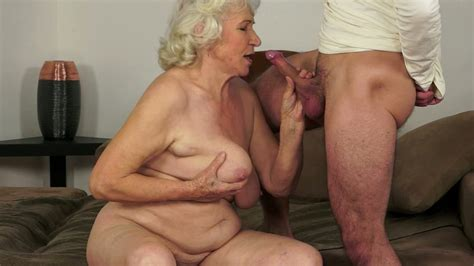 Nasty Granny Norma Blows Hard Dick Of A Horny Stud And