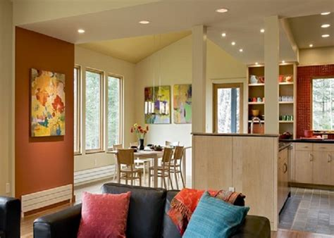 accent wall ideas for kitchen painting benjamin spiced pumpkin accent wall