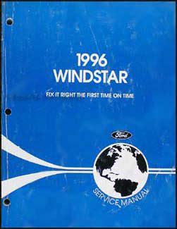 car repair manual download 1996 ford windstar electronic throttle control 1996 1997 ford windstar repair shop manual original