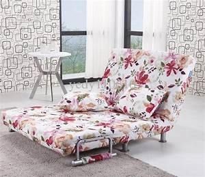 Polyester cloth sofa bed modern style floral pattern for Floral sofa bed