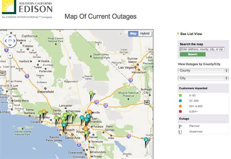 power outage maps    states