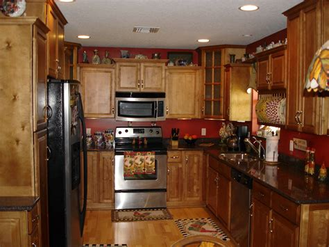 Red Cabinet Kitchen Charming Home Design