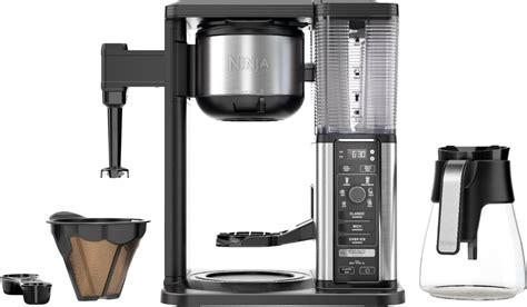 Stainless steel construction for better durability. Customer Reviews: Ninja 10-Cup Specialty Coffee Maker with Fold-Away Frother and Glass Carafe ...