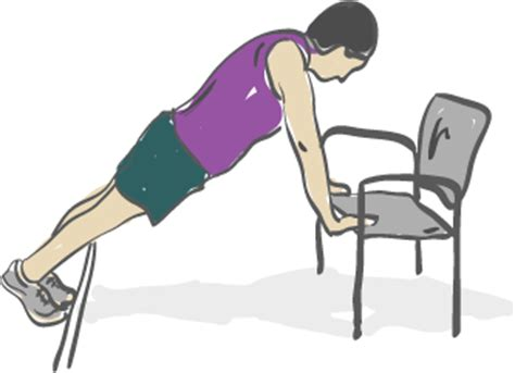 Chair Sit Ups At Home by Home Fitness Test