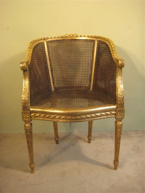 French Gilt Cane Chair  266395 Sellingantiquescouk