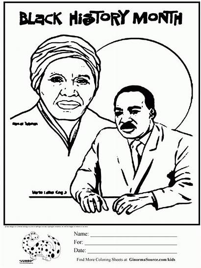 Coloring Month History Pages Sheets African Printables