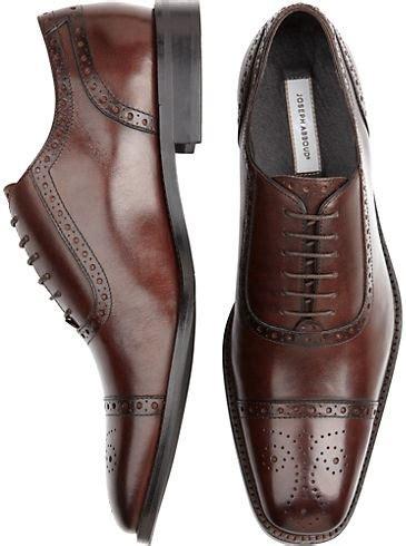 Shoes - Joseph Abboud Brown Stylized Wingtip Shoes - Men's ...