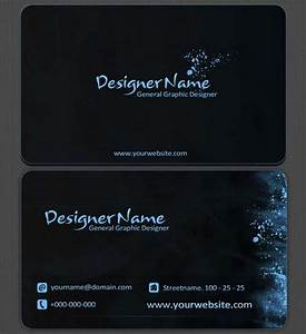 60 absolutely free dark and black business card templates for Business card template black