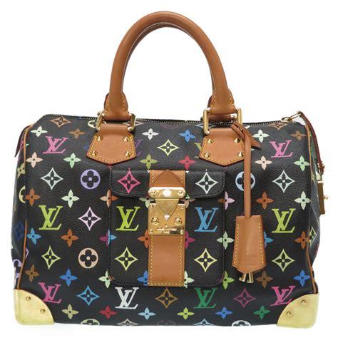 authentic louis vuitton  monogram multi color speedy  hand bag noir  ebay