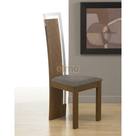 chaise moderne de salle a manger chaise salle à manger design moderne bois massif et chrome