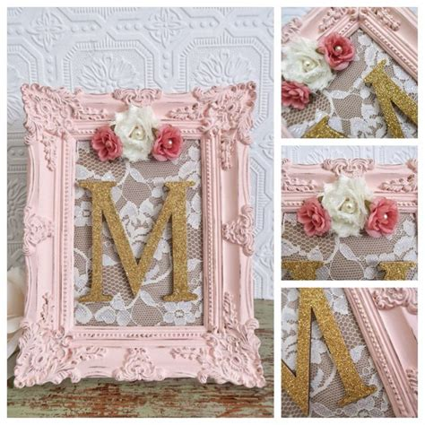 shabby chic lettering nursery letter m baby girl nursery letters pink and gold wall letters shabby chic nursery decor