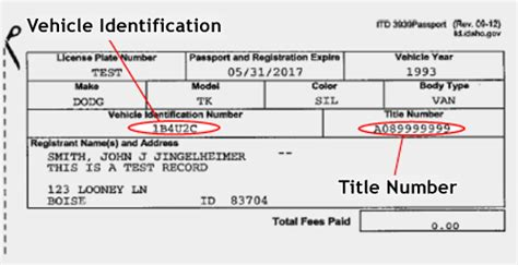 Motor Vehicle Title And Registration Records Search