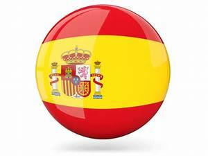 Испания, глянцевая круглая иконка. Скачать иллюстрацию