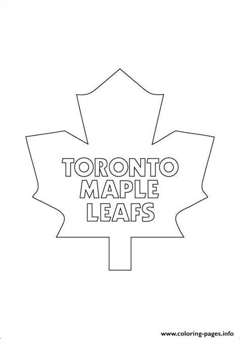 print toronto maple leafs logo nhl hockey sport coloring