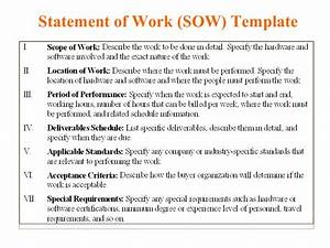 5 free statement of work templates word excel pdf With contractor statement of work template