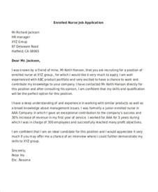 Applicant Resume Sle Pdf by Sle Of Nursing Application Letter 28 Images 9 Application Letters For 9 Free Word Pdf 10