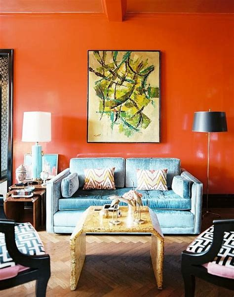 Living Room Decor With Orange Walls by Paint Walls Paint Ideas For Orange Wall Design