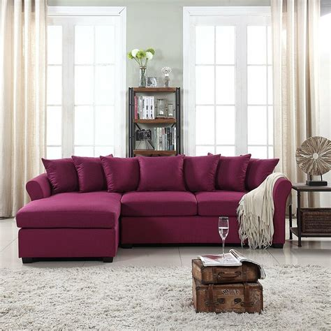 Large Chaise Sofa by Modern Large Fabric Sectional Sofa L Shape With